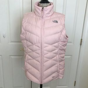 Baby pink north face puffer vest